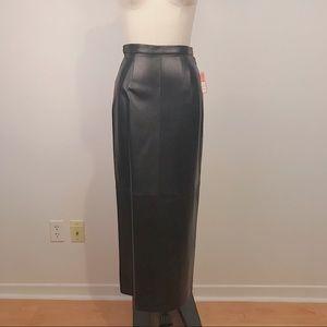 NWT Vintage 100% Genuine Leather Skirt Size 4